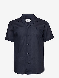 Simon Shirt - linen shirts - dark navy