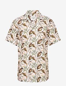 Latif Flower Print SS Shirt - OFF WHITE