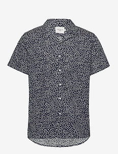 Jacque SS Shirt - DARK NAVY/OFF WHITE