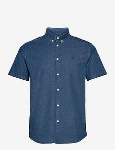 Hayes Chambray SS Shirt - basic skjorter - dark navy