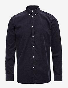 Felix Corduroy Light Shirt - basic-hemden - dark navy