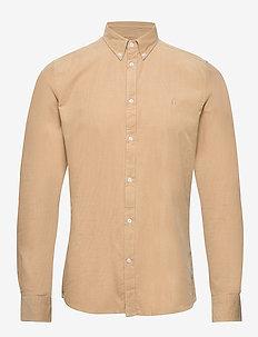 Felix Corduroy Light Shirt - basic-hemden - light brown insence