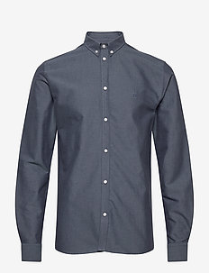 Christoph Oxford Shirt - podstawowe koszulki - blue fog/dark navy