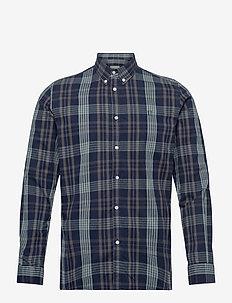 Valence Shirt - rutede skjorter - dark navy/petrol blue