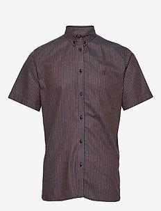 Simon Shirt Buttondown - linskjorter - dark navy