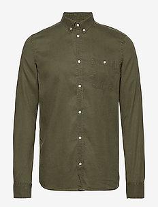 Laurent Tencel Shirt - peruspaitoja - dark green