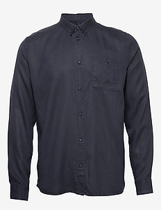 Laurent Tencel Shirt - peruspaitoja - dark navy