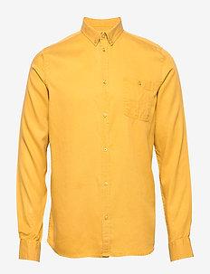Laurent Tencel Shirt - basic-hemden - golden spice yellow
