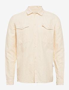 Liam Twill Shirt - basic-hemden - off white