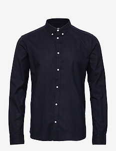 Harrison B.D. Brushed Shirt - basic shirts - dark navy