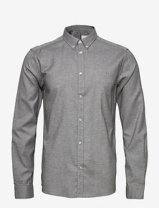 Harrison B.D. Brushed Shirt - basic overhemden - light grey melange