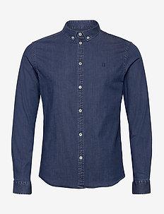 Harper Chambray Shirt - basic overhemden - dark navy