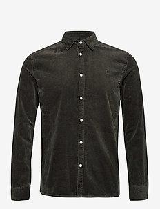 Felix HW Corduroy Shirt - overshirts - deep forrest