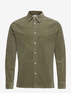 Felix HW Corduroy Shirt - basic skjorter - lichen green