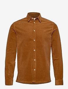 Felix HW Corduroy Shirt - koszule casual - rusty brown
