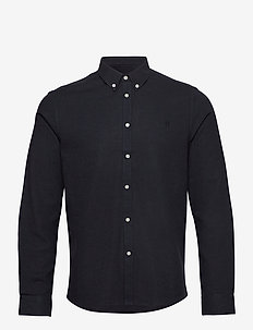 Holden Herringbone Shirt - basic skjortor - dark navy