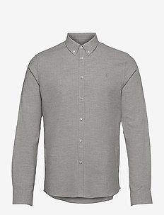 Holden Herringbone Shirt - basic-hemden - grey melange