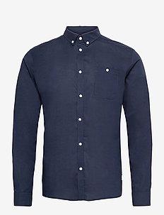 Laurent Ribstop Shirt - basic-hemden - dark navy