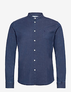 Lee Chambray Mandarin Shirt - basic skjorter - dark navy