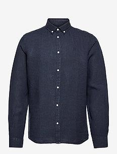Christoph Linen Shirt - basic skjortor - dark navy
