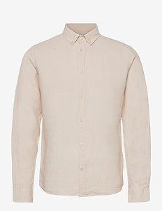 Christoph Linen Shirt - basic skjorter - ivory