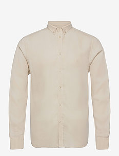 Christoph Tencel Dobby Shirt - chemises de lin - ivory