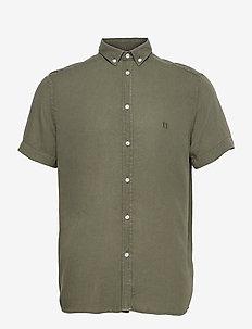 Harvey Tencel Dobby SS Shirt - karierte hemden - lichen green