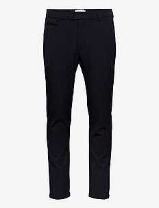 Como Pinstripe Suit Pants - formele broeken - dark navy/rusty brown