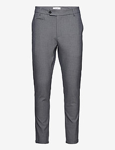Malus Suit Pants - kostymbyxor - dark navy/light grey melange