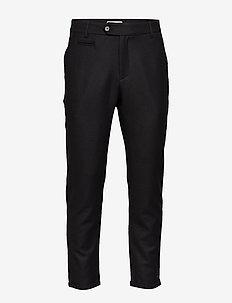 Como Wool Pants - suit trousers - black