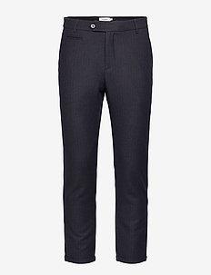 Como Wool Pinstripe Pants - suit trousers - dark navy/brown