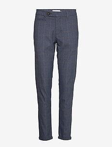 Como Multi Check Suit Pants - anzugshosen - provincial blue