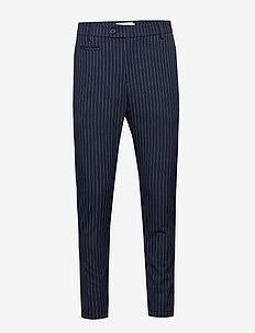 Como LIGHT Pinstripe Suit Pants - DARK NAVY/PROVINCIAL BLUE
