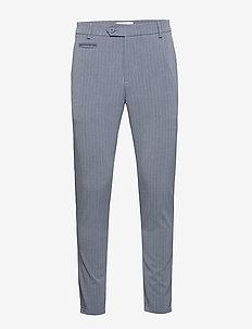 Como LIGHT Pinstripe Suit Pants - PROVINCIAL BLUE/GREY MELANGE