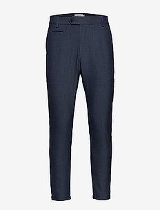 Como Light Herringbone Suit Pants - anzugshosen - dark navy