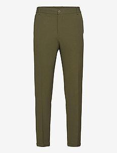 Pino Elastic Waist Pants - casual trousers - dark green