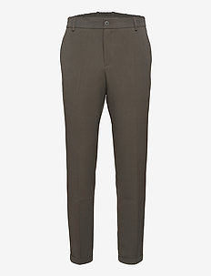 Pino Elastic Waist Pants - casual trousers - phantom green