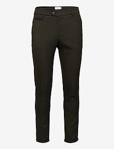 Como Herringbone Suit Pants - suitbukser - deep forrest/black