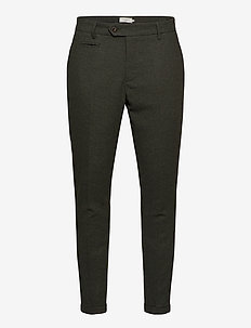 Como Wool Suit Pants - formele broeken - deep forrest