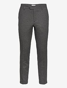 Como Wool Suit Pants - puvunhousut - grey melange