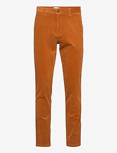 Como Corduroy Pants - chinos - rusty brown