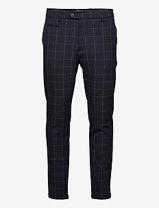 Como Check Suit Pants - casual broeken - dark navy/bombay brown
