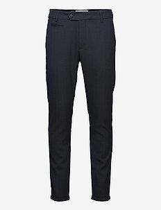 Malus Suit Pants - formele broeken - dark navy/black