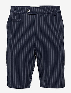 Como LIGHT Pinstripe Shorts - DARK NAVY/PROVINCIAL BLUE