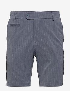 Como LIGHT Pinstripe Shorts - PROVINCIAL BLUE/GREY MELANGE