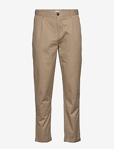 Pino Linen Pants - casual trousers - grey sand