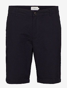 Lyon Seersucker Shorts - spodenki chinos - dark navy