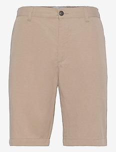 Pino Linen-Tencel Shorts - chinos shorts - dark sand