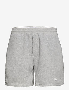 Copparo Fleece Shorts - casual shorts - light grey melange/off white