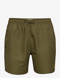 Piece Swimshorts - shorts de bain - dark green/golden spice yellow